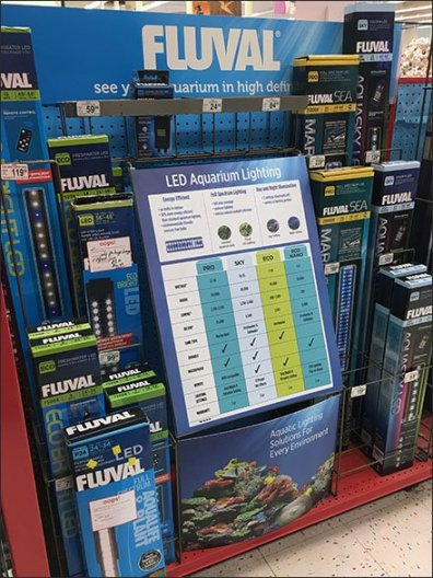 Aquarium LED Light Color Coding by Fluval