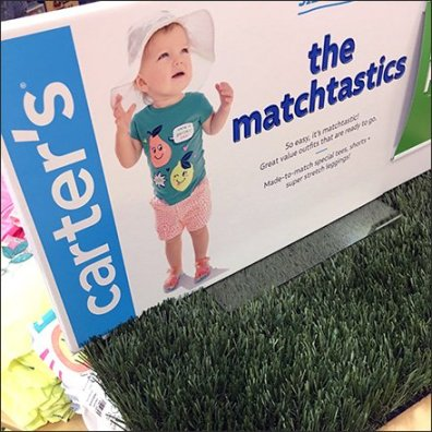 Artificial Turf in Infant Visual Merchandising Feature