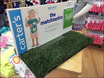 Artificial Grass in Infant Visual Merchandising