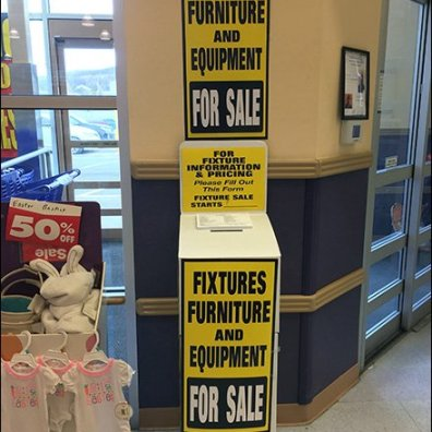 Babies-R-Us Fixtures For Sale Ballot Box