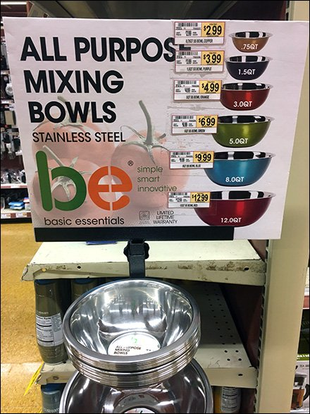 Mixing Bowl Rack in All Sizes and Colors