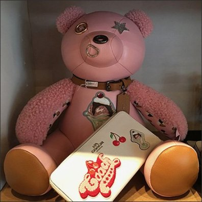 Coach Pink Teddy Bear Personified Square1