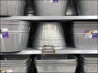 Galvanized Bucket Mass Merchandising