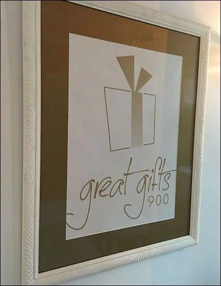 Great Gifts 900 Framed Branding