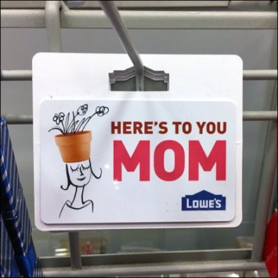 Here's-To-You-Mom Gift Card Grid Hook