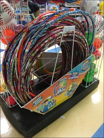 Hula Hoop Island Display Offers More