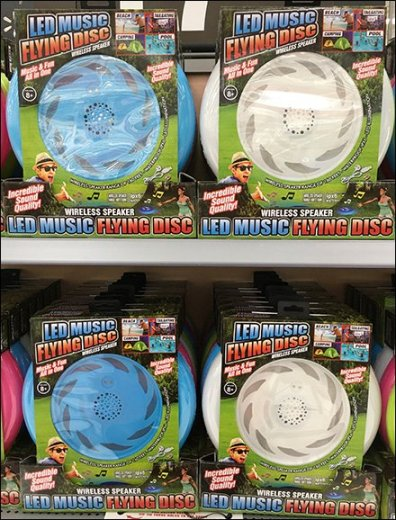 In-Store Flying Disk Try-Me Endcap