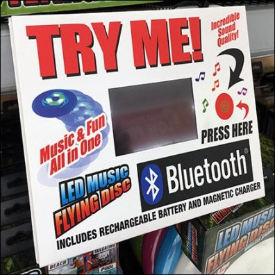 In-Store Flying Disk Try-Me Endcap Feature