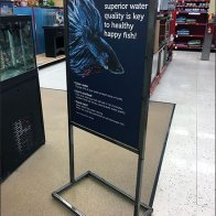 Key To Happy Fish In-Store Advice Sign