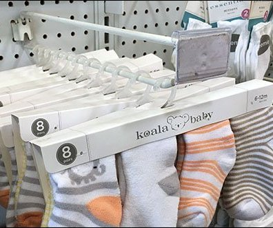 Hinged Straight Entry Scan Hooks For Koala Socks