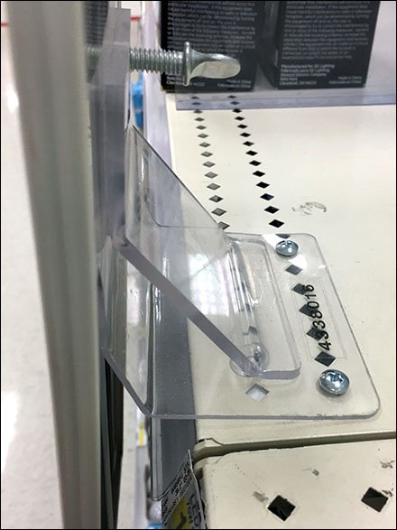 Shelf Edge Sign Holder With Threaded Fasteners