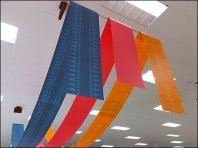 Fabric Banner As Overhead Space Frame