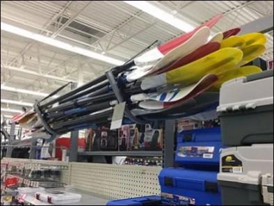 Overhead Kayak Paddle Rack Outfitting