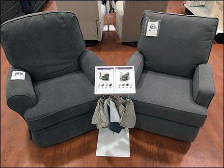 Recliner Catalog Spread Freestanding Floorstand