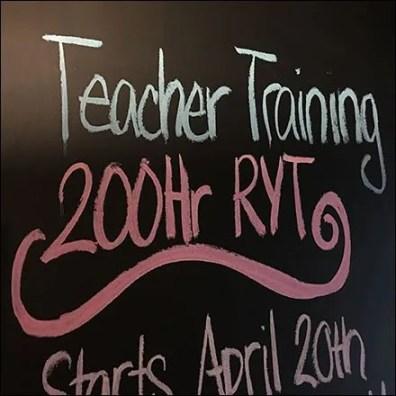Yoga Teacher Chalkboard Announcement
