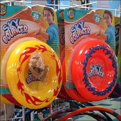 Sky Bouncer Flying Disk Merchandising Feature