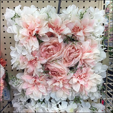 Square Floral Wreath Endcap Display Square