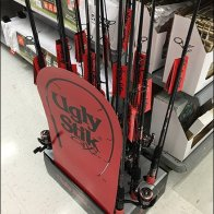 Ugly Stick Fishing Pole Floor Stand Display