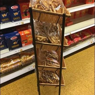 Mid-Height Wicker Basket Tiered Rack