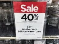 Anniversary Edition Mason Jar Merchandising