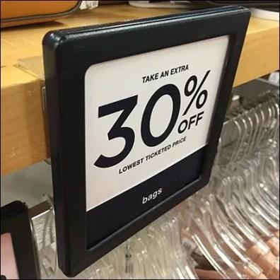 Apparel Solid Shelf Sign Holder Clip-Mounts
