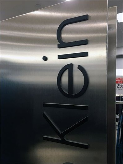 Calvin Klein Stainless Steel Upright Branding