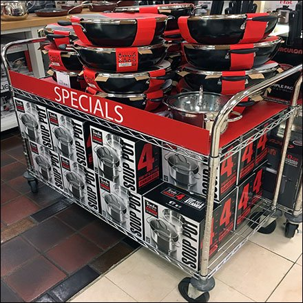 Cartload of Cookware Specials On The Move Feature