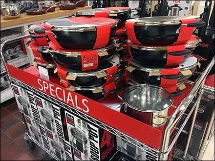 Macys Cookware Cart Specials Goes Mobile