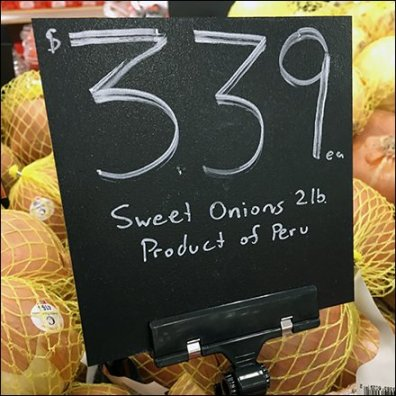 Chalkboard Price Flags In Produce Feature