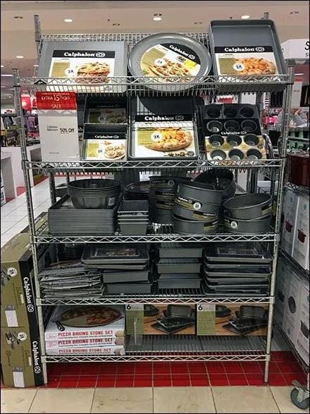 Calphalon Bakeware Declined Wire Shelf Display