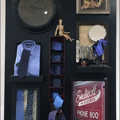 Men's Designer Necktie Display In-Store