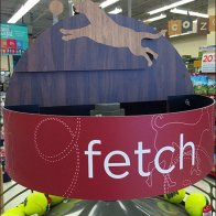 Fetch Ball-In-Motion Display At Petco