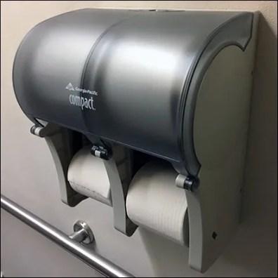 Georgia-Pacific Quadraphonic Toilet Paper Holder Feature