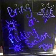 Harley-Davidson Black Light Window Sign