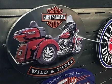Harley-Davidson Chrome Slatwall Hooks
