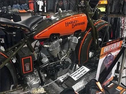 Harley-Davidson Motorcycle Diamond Plate Display