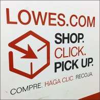 Lowes Online Shopping and Pickup Encouraged Feature