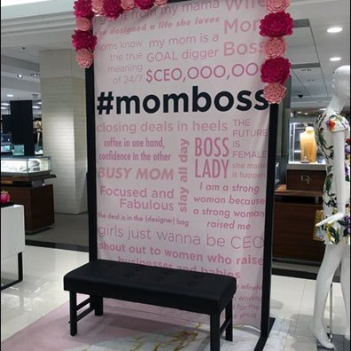 #MomBoss Celebratory Wall Display