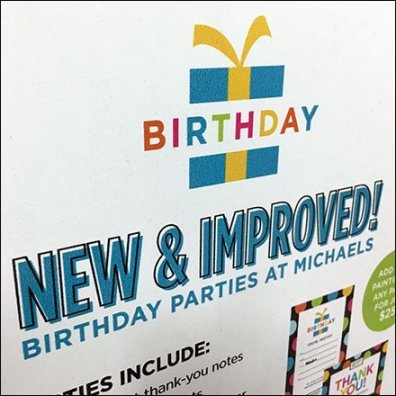 Michaels New And Improved Birthday Parties
