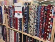 Patriotic Fabric Merchandise Presentation