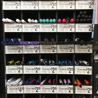 Pen Cubbies for Chalkboard Marker Merchandising