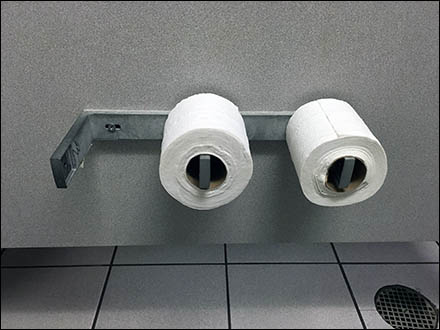 Basic Bare-Bones Two Roll Toilet Paper Holder