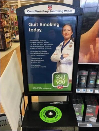 Sanitary Wipes Pitch Quit Smoking Advertising