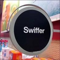 Swiffer Spot Branded Gondola Upright Sign Feature
