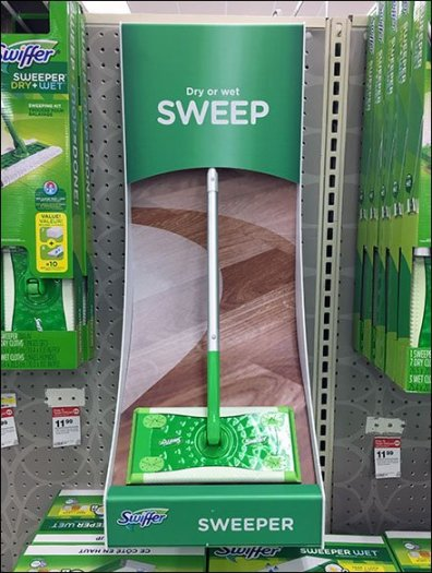 Swiffer Sweeper Curved Display For Pegboard