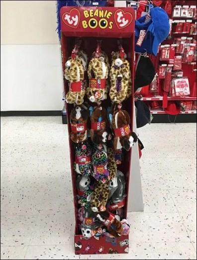 Ty Beanie Boos Plush Slippers Display