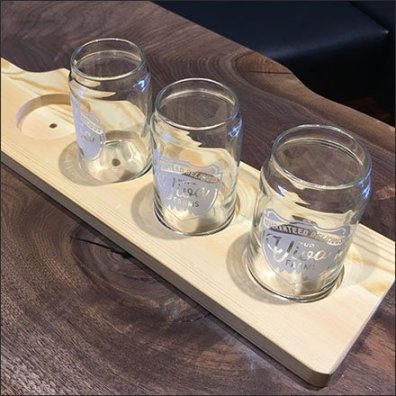 Viva Farms Beer Sample Serving Tray Feature