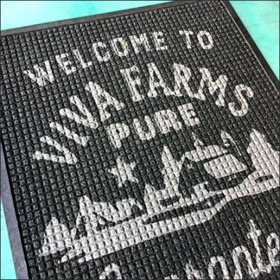 Viva Farms Welcome Mat Branding Feature