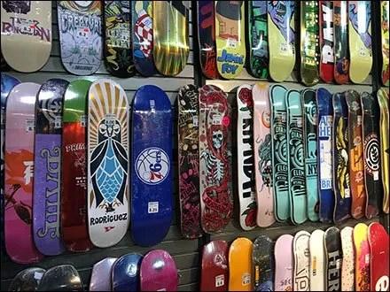 Zumiez Skateboard Deck Slatwall Display