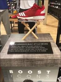 Adidas Baseball Shoes Crossed Bat Display